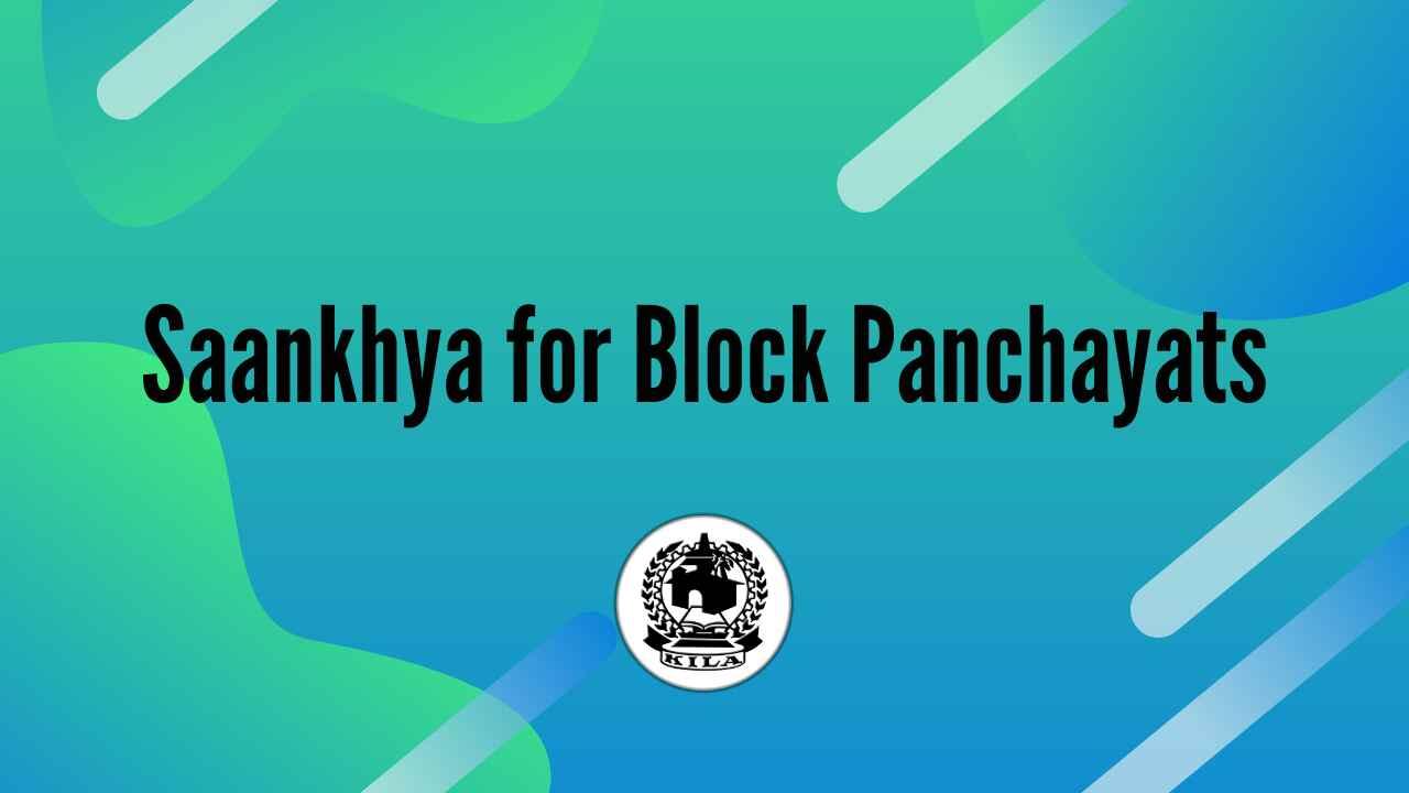 Saankhya for Block Panchayats (2021)